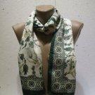 100 % silk scarf shawl vintage silk scarf handmade scarf soft light scarf m 8