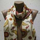 100 % silk scarf shawl vintage silk scarf handmade scarf soft light scarf n 14