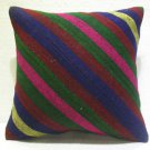 Antique nomadic kelim kissen sofa throw pillow cover tribal rug cushion 65
