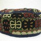 Antique turkoman super fine embroidery hat turkish beret collecion hat natural 6