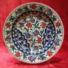 H.made lead free Ottoman iznik plate wall hanging collectible turkish ceramic 7