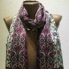 100 % silk scarf shawl vintage silk scarf handmade scarf soft light scarf m 30