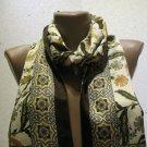 100 % silk scarf shawl vintage silk scarf handmade scarf soft light scarf m 20