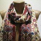 100 % silk scarf shawl vintage silk scarf handmade scarf soft light scarf m 45