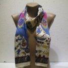 100 % silk scarf shawl vintage silk scarf handmade scarf soft light scarf m 2