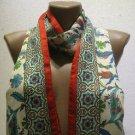 100 % silk scarf shawl vintage silk scarf handmade scarf soft light scarf m 21