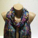 100 % silk scarf shawl vintage silk scarf handmade scarf soft light scarf m 40