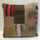 Antique Decorative Couch Throw Pillow Turkish Kilim Rustic Cushion 45cm (12)