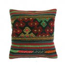 Antique Decorative Couch Throw Pillow Turkish Kilim Rustic Cushion 16'' (y045)