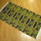 pistachio green purple wall hanging entry carpet tapis Turc teppiche kelim 59