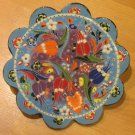 Hand made tile ceramic Pottery trivet for hot pots decoration or tea pots _ n 5