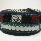 Antique asian fine embroidery hat turkish beret collecion hat vegetable dyes 12