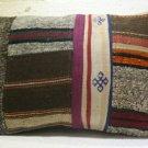 Antique patchwork kelim kissen sofa throw pillow cover tribal rug cushion 46