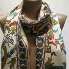 100 % silk scarf shawl vintage silk scarf handmade scarf soft light scarf m 15