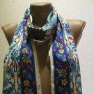 100 % silk scarf shawl vintage silk scarf handmade scarf soft light scarf m 25