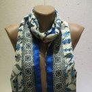 100 % silk scarf shawl vintage silk scarf handmade scarf soft light scarf m 38