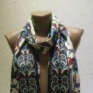 100 % silk scarf shawl vintage silk scarf handmade scarf soft light scarf m 35