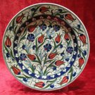 H.made lead free Ottoman iznik plate wall hanging collectible turkish ceramic 9