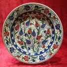 H.made lead free Ottoman iznik plate wall hanging collectible turkish ceramic 11