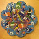 Hand made tile ceramic Pottery trivet for hot pots decoration or tea pots _ n 4