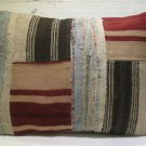 Antique patchwork kelim kissen sofa throw pillow cover tribal rug cushion 49