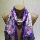 100 % silk scarf shawl vintage silk scarf handmade scarf soft light scarf m 33a