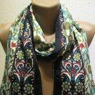 100 % silk scarf shawl vintage silk scarf handmade scarf soft light scarf z 22