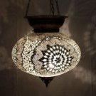 Moroccan mosaic hanging lamp glass chandelier light lampen handmade candle m 43