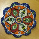 Hand made tile ceramic Pottery trivet for hot pots decoration or tea pots _ n 1