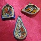 glass necklace pendant jewellery glass pendant handmade art work ko 14