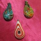 glass necklace pendant jewellery glass pendant handmade art work ko 15