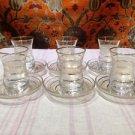 Turkish tea set tea glasses ottoman cups glass mug hot tea glasses tribal set 3