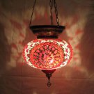 moroccan lantern hanging lamp glass chandelier light lampen handmade candle m 57