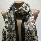 100 % silk scarf shawl vintage silk scarf handmade scarf soft light scarf m 13