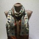 100 % silk scarf shawl vintage silk scarf handmade scarf soft light scarf m 17
