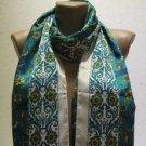 100 % silk scarf shawl vintage silk scarf handmade scarf soft light scarf m 27