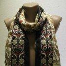 100 % silk scarf shawl vintage silk scarf handmade scarf soft light scarf m 46