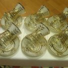 GOLD plated turkish tea set glasses ottoman cups glass mug hot tea glasses b 11