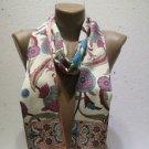 100 % silk scarf shawl vintage silk scarf handmade scarf soft light scarf m 12