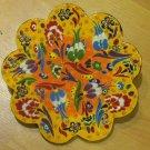 Hand made tile ceramic Pottery trivet for hot pots decoration or tea pots _ n 6