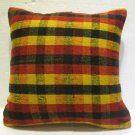 Antique nomadic kelim kissen sofa throw pillow cover tribal rug cushion 63