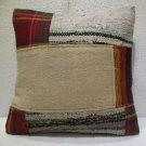 Patchwork nomadic Turkish handmade cecim kilim pillow cushion 18'' (127 )