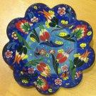Hand made tile ceramic Pottery trivet for hot pots decoration or tea pots _ n 2