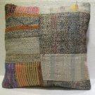 Patchwork nomadic Turkish handmade cecim kilim pillow cushion 20'' (136)