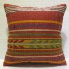 Antique nomadic kelim kissen sofa throw pillow cover tribal rug cushion 66