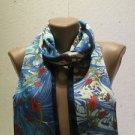 100 % silk scarf shawl vintage silk scarf handmade scarf soft light scarf m 37