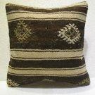 Patchwork nomadic Turkish handmade cecim kilim pillow cushion 15.6'' (138)