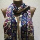 100 % silk scarf shawl vintage silk scarf handmade scarf soft light scarf m 9