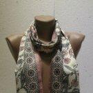 100 % silk scarf shawl vintage silk scarf handmade scarf soft light scarf m 36