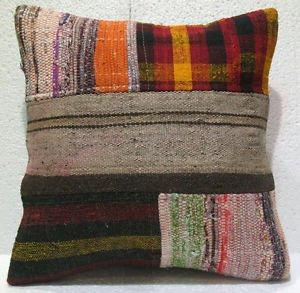 Patchwork nomadic Turkish handmade cecim kilim pillow cushion 1818'' (130)